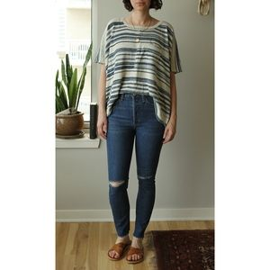 Re/Done originals high rise ankle crop jeans 26